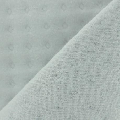 Tissu jersey matelassé Basik Poinçon Camillette Création - grisouille x 10cm