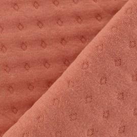Tissu jersey matelassé Basik Poinçon Camillette Création - terra cotta x 10cm