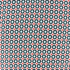 Oeko-Tex cotton Mikko  fabric - white x 10cm
