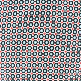 Tissu coton Oeko-Tex Petit Pan Mikko - Blanc x 10cm
