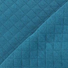 Quilted Jersey Fabric Basik X Camillette Création - blue duck x 10cm