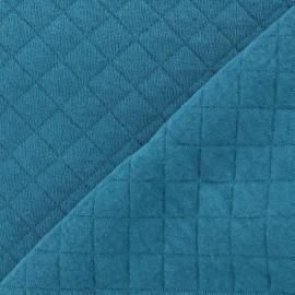 Tissu jersey matelassé Basik X Camillette Création - blue duck x 10cm