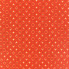 Oeko-Tex cotton Jalila fabric - orange x 10cm
