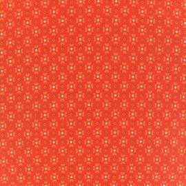 Tissu coton Oeko-Tex Petit Pan Jalila - orange x 10cm