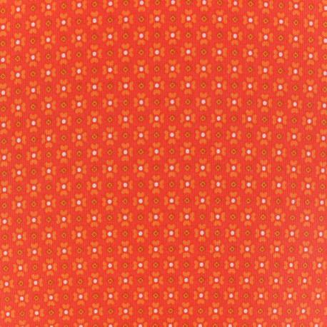 Oeko-Tex cotton Jalila fabric - orange x 10cm