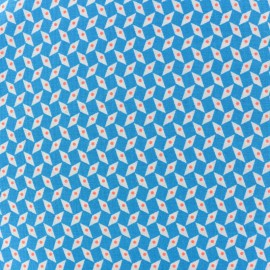 Oeko-Tex cotton Pepin fabric - blue x 10cm