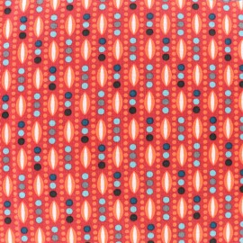 Oeko-Tex cotton Plantain fabric - tangerine x 10cm