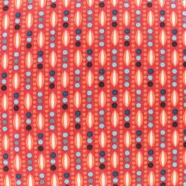Tissu coton Oeko-Tex Petit Plantain - tangerine x 10cm