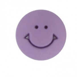 Button, round-shaped, Smile 12 mm - mauve