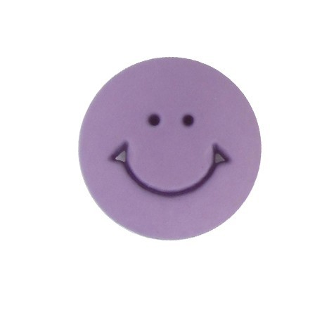 Bouton rond Smile mauve