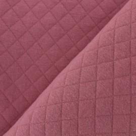 Tissu jersey matelassé Basik X Camillette Création - rosagé x 10cm