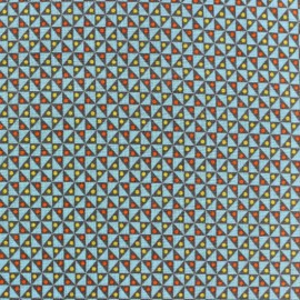 Tissu coton Oeko-Tex Petit Pan Mulino - bleu x 10cm