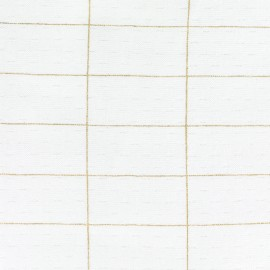 Filaire Or Jersey Fabric Camillette Création - white x10cm