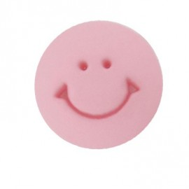 Bouton rond Smile rose
