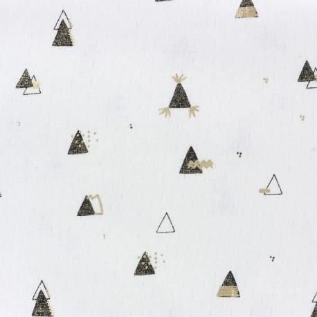 Tissu jersey Picoti Camillette Création - noir & or x 10cm