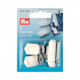 Set of 2 PRYM Combi clips 25 mm - silver