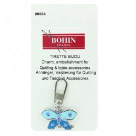 Tirette bijoux fantaisie papillon - bleu