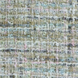 Tissu Tweed Song - multi rose x 10cm