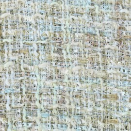 Tissu Tweed Song - multi bleu x 10cm