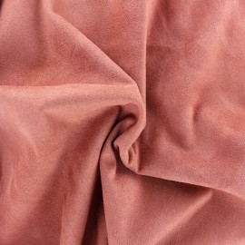 Suede elastane fabric Aspect Daim - strawberry milk x 10cm