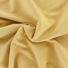 Suede elastane fabric Aspect Daim - curry x 10cm