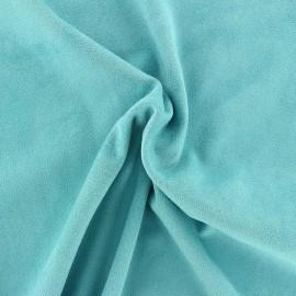 Suede elastane fabric Aspect Daim - azure x 10cm