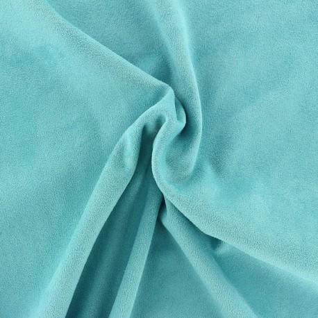 Tissu Suédine élasthanne Aspect daim - azur x 10cm