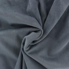 Suede elastane fabric Aspect Daim - storm x 10cm
