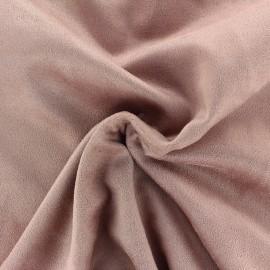Tissu Suédine élasthanne Aspect daim - sable rose x 10cm