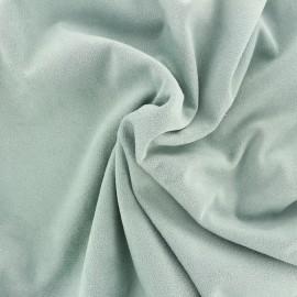 Suede elastane fabric Aspect Daim - jade x 10cm