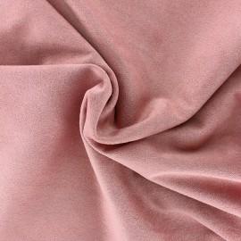 Tissu Suédine élasthanne Aspect daim - vieux rose x 10cm