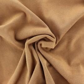 Suede elastane fabric Aspect Daim - soft tobacco x 10cm