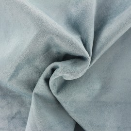 Suede elastane fabric Aspect Daim - opaline blue x 10cm
