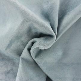 Tissu Suédine élasthanne Aspect daim - bleu opaline x 10cm