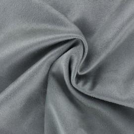 Tissu Suédine élasthanne Aspect daim - gris x 10cm