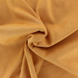 Tissu Suédine élasthanne Aspect daim - safran x 10cm