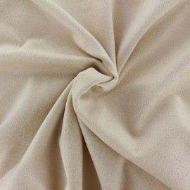 Suede elastane fabric Aspect Daim - sand x 10cm