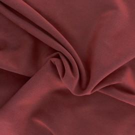 Suede elastane fabric Aspect Daim - grenat x 10cm