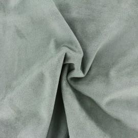 Tissu Suédine élasthanne Aspect daim - vert de gris x 10cm