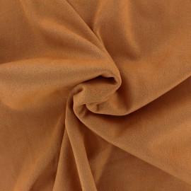 Suede elastane fabric Aspect Daim - tan x 10cm