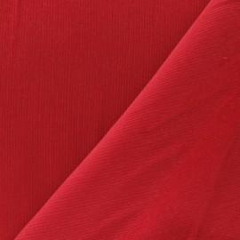 Tissu velours milleraies 200gr/ml rouge