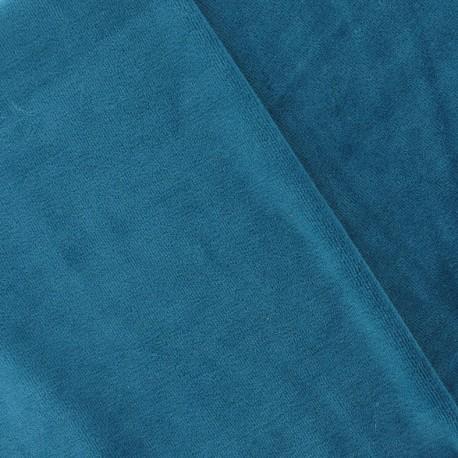 tissu velours ponge jersey bleu canard x 10cm ma petite mercerie. Black Bedroom Furniture Sets. Home Design Ideas
