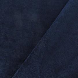 Tissu velours éponge bleu nuit