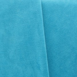"Tissu velours éponge bleu ""Bondi"""