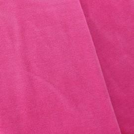 Tissu velours éponge fuchsia