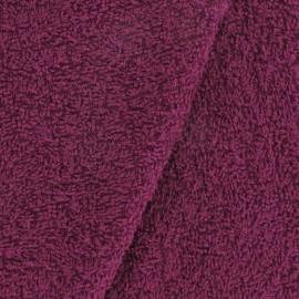 Tissu Eponge uni prune