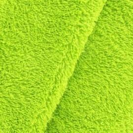 Tissu Eponge uni anis
