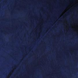 Taffetas uni bleu marine
