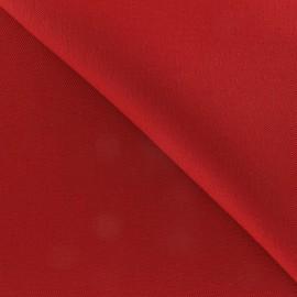 Tissu coton épais rouge carmin x  10 cm