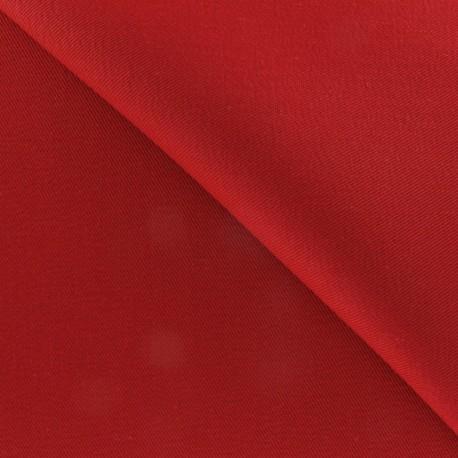 Tissu Coton épais rouge carmin
